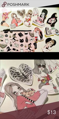 Valfre x Ipsy Black Magic Halloween 2016 New, unused, without tags. Valfre x Ipsy Black Magic Halloween 2016 Cosmetic Bag only, no makeup samples. Free stickers with purchase! :) Bags Cosmetic Bags & Cases