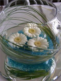 Fishbowl arrangement from Flowers by Suzanne