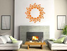 Sticker Decorativ Floral circle