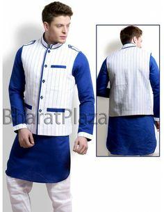 Superlative Jacket Pattern Pathani Suit Item code : SKB2704BJ  http://www.bharatplaza.com/new-arrivals/kurta-pyjamas/superlative-jacket-pattern-pathani-suit-skb2704bj.html