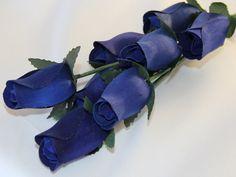 Closed Bud Roses - #05 Blue – Eternal Wooden Roses