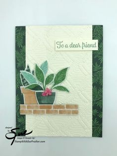 Bloom Where Youre Planted, Perfect Plants, Card Making Inspiration, Flowers Nature, Card Tags, Creative Cards, Flower Cards, Greeting Cards Handmade, Stampin Up Cards