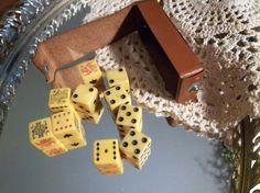 Vintage Bakelite Poker Dice Lot of 10 REDUCED by Sarasvintageattic, $29.00