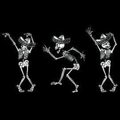 Dia de Los Muertos Skeletons Dancing  Funny Tee T Shirt | eBay