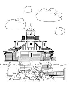 Thomas Point Lighthouse Stress Relief Advanced By LeeTowleDesigns