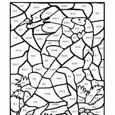 multiplication coloring sheets