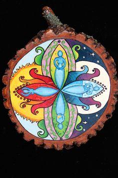 Hand painted Four Season Goddess Mandala. $40.00, via Etsy.