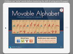 Movable Alphabet Cursive Edition — Mobile Montessori