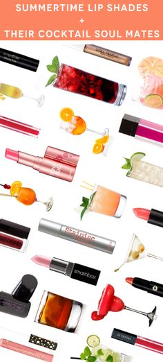 Find your cocktail's lipstick soul mate.