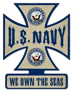 Navy Cross Vintage Metal Sign