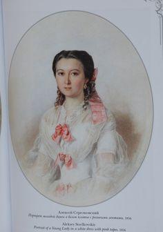 1856Strielkovskij lady in white dress