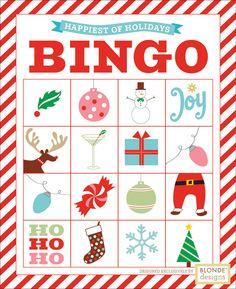 Christmas Bingo- 8 different cards!