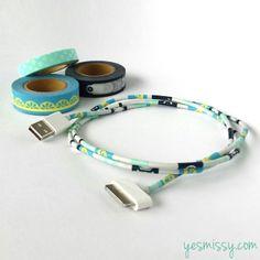 20 Creative Washi Tape Ideas - Decorate cords