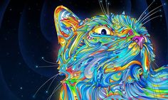 Blanket Comfort Warmth Soft Plush Throw for Couch Pop Psychedelic Trippy Cat Abstract Trippy Wallpaper, Cat Wallpaper, 1920x1200 Wallpaper, Wallpaper Gallery, Animal Wallpaper, Computer Wallpaper, Black Wallpaper, Psychedelic Art, Trippy Cat