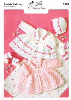 Teddy 7188 two designs baby matinee coat vintage by Ellisadine