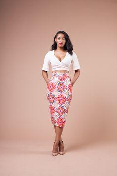Vlisco ROSY Skirt