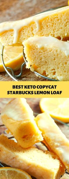 BEST KETO COPYCAT STARBUCKS LEMON LOAF