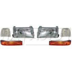 1992 - 1996 Ford F150 Truck Headlight & Parking Light Kit (6 Piece)
