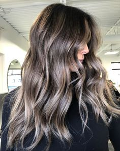 Brown hair gets a bad rap for being basic, but these photos prove brunettes are capable of dimension, and lots of it. Ash Brown Hair Balayage, Ash Brown Hair With Highlights, Ashy Brown Hair, Light Ash Brown Hair, Ashy Hair, Ash Brown Hair Color, Hair Color Balayage, Brunette Hair, Baylage Brunette