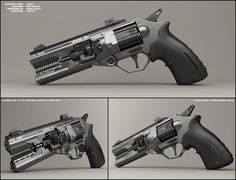 Concept of sci fi revolver. it is mentioned to be pair to rifle I uploaded few days ago: (Nova). Both concepts are energy weapons. no bullets. Worked in 3ds max, used vray rendering engine an...