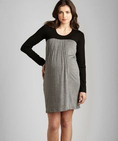 Take a look at this Maternal America Navy & Gray Color Block Maternity Dress by Expecting Style: Designer Maternity on #zulily today!