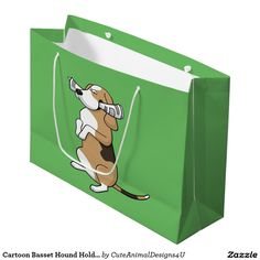 Get your Cartoon Dog paper shopping bags at Zazzle. Merchandise Bags, Large Gift Bags, Cartoon Dog, Basset Hound, Paper Shopping Bag, Toy Chest, Entertaining, Newspaper, Dogs