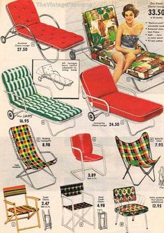 mid mod lawn loungers and chairs...