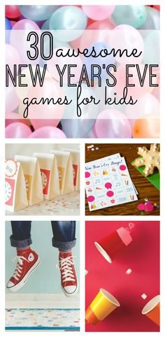 If you're planning on spending New Year's Eve as a family this year, we've got your covered! Enjoy these 30 Awesome New Year's Eve Games for the family.