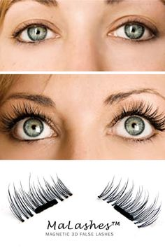 "MaLashes™ magnetic eyelashes give you luxurious length and volume, without that ""false lash"" effect! No need for irrititing glue!"