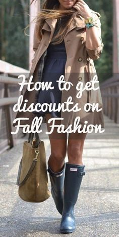 How to save on Fall Fashion So happy I pinned this(I am posting this to say NO RAIN BOOTS PLEASE! the rest of it looks good though) Autumn Winter Fashion, Fashion Beauty, Autumn Fashion, Womens Fashion, Fashion Tips, Fashion Trends, Winter Style, Fashion Styles, Spring Fashion