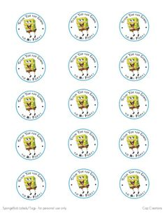 Cap Creations: Free SpongeBob Party Printable