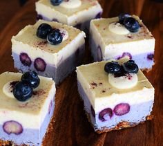 Raw Blueberry Lemon Cheesecake Recipe - Rawlicious Delicious