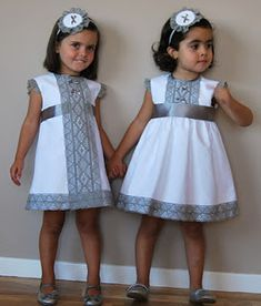 two ideas are better than one! Little Dresses, Little Girl Dresses, Cute Dresses, Girls Dresses, Flower Girl Dresses, Toddler Dress, Baby Dress, Toddler Girl, Frocks For Girls