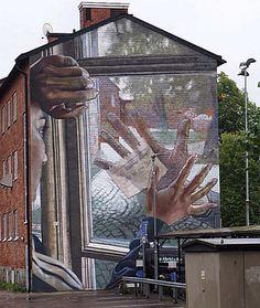 "Case Maclaim street art ""We will never be like before."""