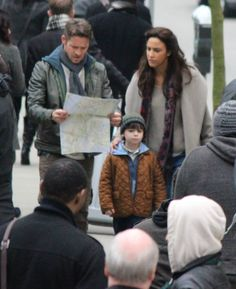 Sean Maguire, Christie Laing & Raphael Alejandro filming scenes for Once Upon A time - January 27, 2015