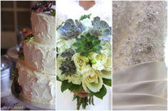 Wedding, Succulent, Wedding Cake, Bouquet, Lace