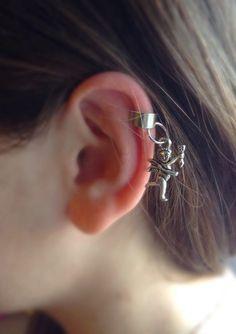 Cupidon Ear Cuff Cupidon Earring Ear Cuff Silver by DanusHandmade