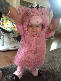 This Little Piggy smiled all the way home! Find costume here: http://amzn.to/2duIhNu