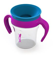 Wow Baby Cup...360 open cup design with spill proof abilities for kids to learn to drink from open cups without the mess