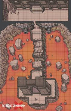 dungeons and dragons Homebrewing CrossheadStudios Titan Underworld Gate BBEG Dungeon Battlemap for Damp;D, Dungeons and Dragons, Pathfinder, and other RPG games. Mazes And Monsters, Pathfinder Maps, Dungeons And Dragons Art, Rpg Map, Dnd 5e Homebrew, Map Maker, Adventure Map, Dungeon Maps, Fantasy Map