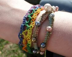 Thread crochet soft bangle