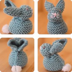Too cute! Knit a Bunny from a Square with this easy stitch pattern by Studio Knit. Celebrate Springtime and Easter with this little bunny rabbit easily shaped from a simple knitted square. # Free Knitting Videos Knit a Bunny from a Square Knitting Videos, Loom Knitting, Knitting Stitches, Free Knitting, Baby Knitting, Easy Knitting Patterns, Stitch Patterns, Crochet Patterns, Knitted Toys Patterns