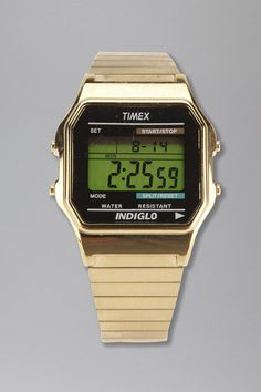 Timex Gold Core Digital Watch - omg I love this so much!!! Best bf in the world got it for me and I freaking LOVE it. I have been swimming with it every morning with no trouble. I freaking love all the features and it is gorgeous!!