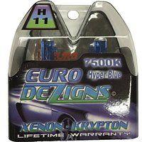 Cheap EuroDezigns H11 White/Blue Headlights - Low Beam 7500k Xenon-Krypton HID…