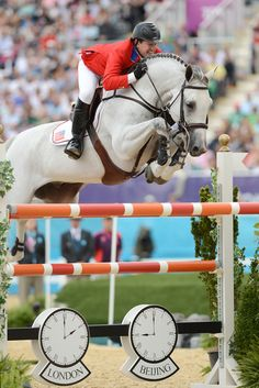 McLain Ward and Antares F - I  was one of the first people to handle this horse when it got to the US. my Olympic moment