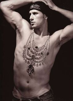 Cartier 100th-anniversary. Photo by Bruce Weber. The model is wearing a copy of the Patiala Necklace. The necklace was commissioned from Cartier in 1928 by the Maharaja of Patiala. http://pinterest.com/pin/91831279871342021  http://pinterest.com/pin/91831279871340030