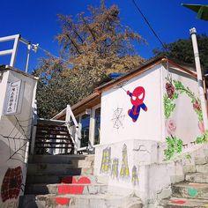 #spiderman #cute #chibi #jaman #village #murals #art #painting #muralvillage #jeonju #southkorea #korea #asiatravel #nomsandramblestravels #nomsandrambles #instadaily #instagood #travelphotography #instapassport #instatravel