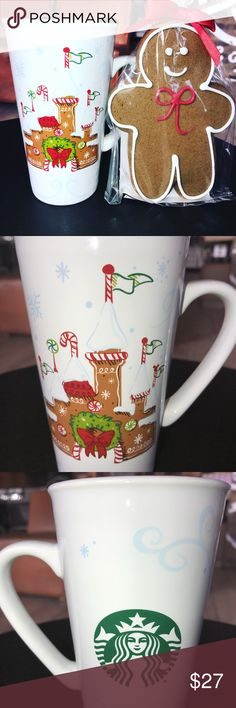 """STARBUCKS DISNEYLAND GINGERBREAD CASTLE MUG """"JUST RELEASED NOVEMBER 10th 2017""""   New STARBUCKS DISNEYLAND (2017) CHRISTMAS """"GINGERBREAD CASTLE"""" DOUBLE-WALLED CERAMIC TUMBLER MUG ......  YOU WILL NEVER SEE THESE AGAIN ... ONCE """"DISNEYLAND"""" SELLS-OUT OF THESE MUGS THEY ARE GONE FOREVER .... ALL THESE MUGS WERE SPECIALLY MADE THROUGH AN """"EXCLUSIVE COLLABORATION BETWEEN STARBUCKS and THE WALT DISNEY COMPANY"""" — THESE HAVE NOW BECOME VALUABLE COLLECTIBLES AND ARE SELLING ON ( EBAY - AMAZON - ETSY…"""