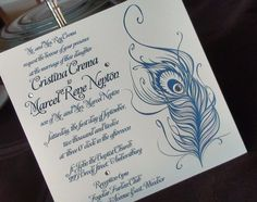 Feather Inspired Invitation by Designs of Perfection! www.weddingshows.com