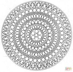 Mandala | Super Coloring | Ornaments, needlework, monograms ...